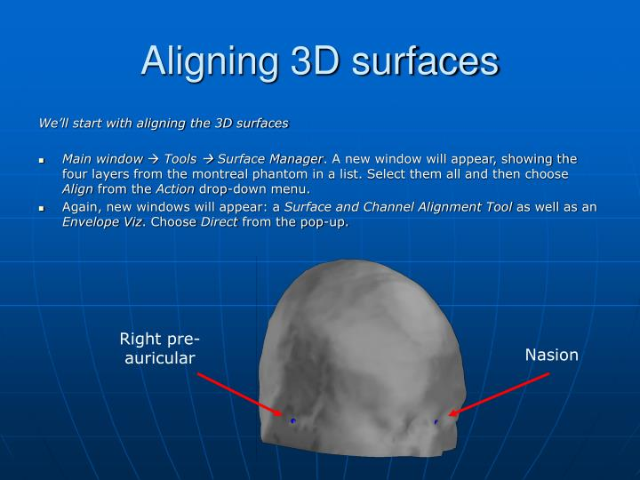 Aligning 3D surfaces