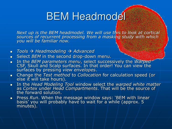 BEM Headmodel