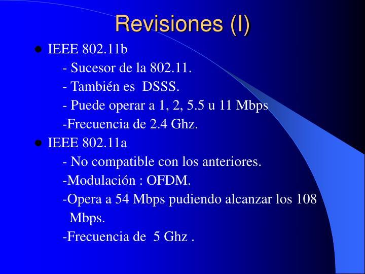 Revisiones (I)