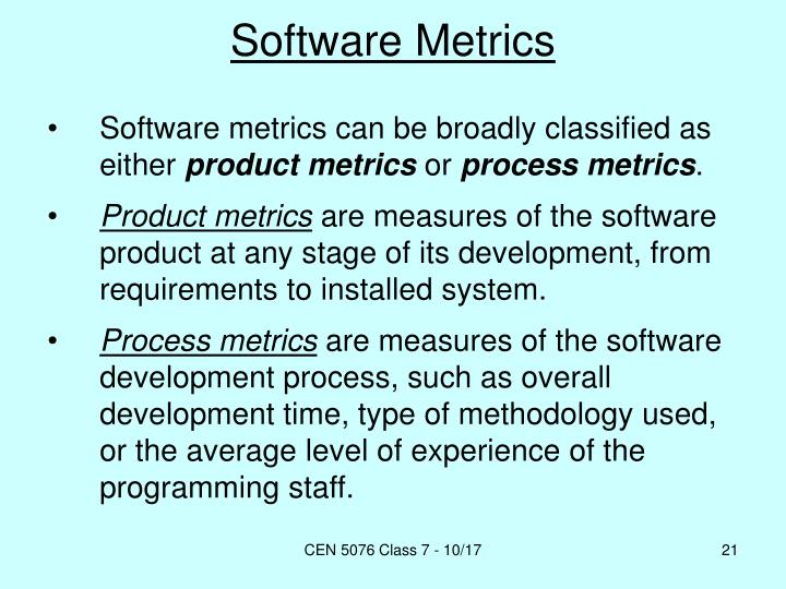 PPT - Software Metrics. PowerPoint Presentation - ID:5728756