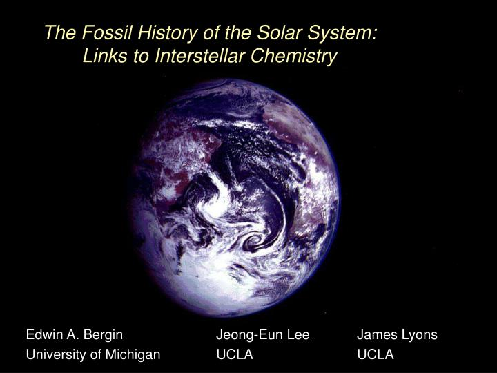 The Fossil History of the Solar System: Links to Interstellar Chemistry
