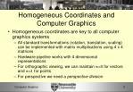 homogeneous coordinates and computer graphics