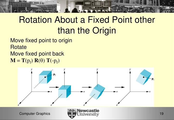 Rotation About a Fixed Point other than the Origin