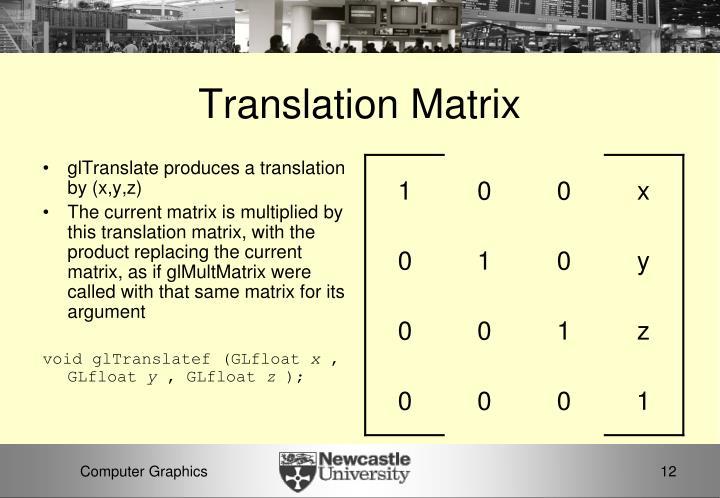Translation Matrix
