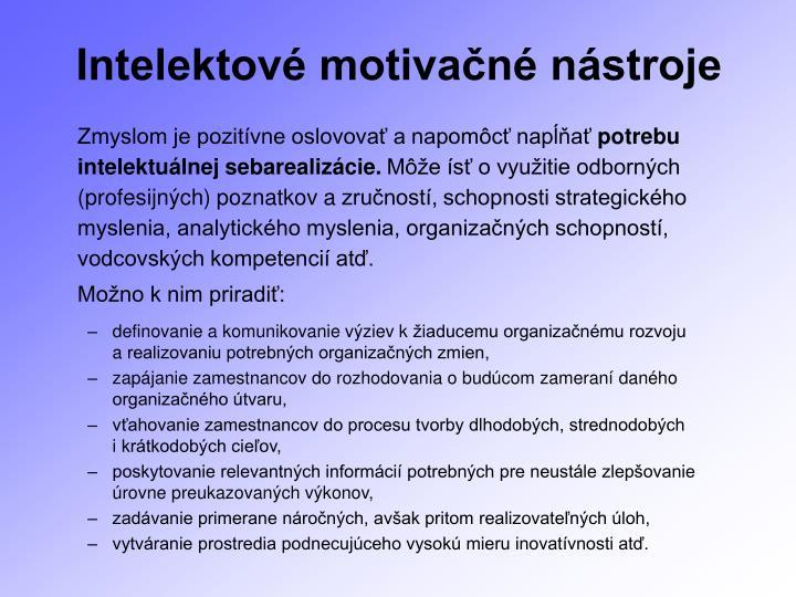 Intelektové motivačné nástroje