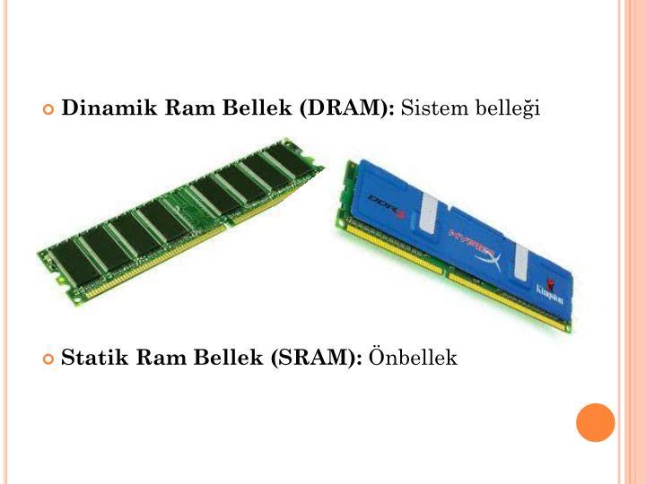 Dinamik Ram Bellek (DRAM):