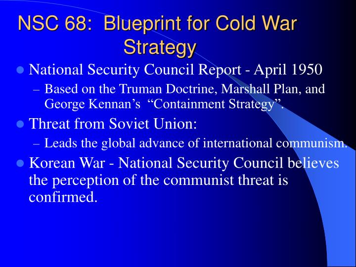 NSC 68: A Cold War Policy Paper