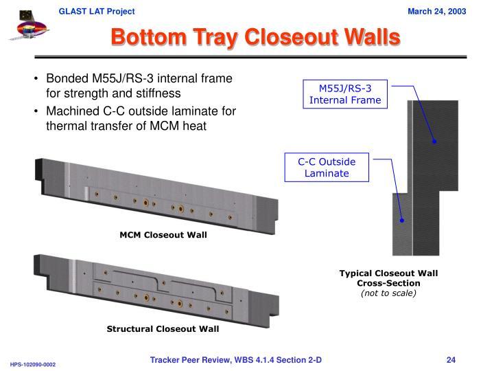 Bottom Tray Closeout Walls