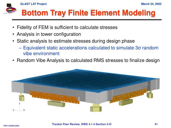 Bottom Tray Finite Element Modeling