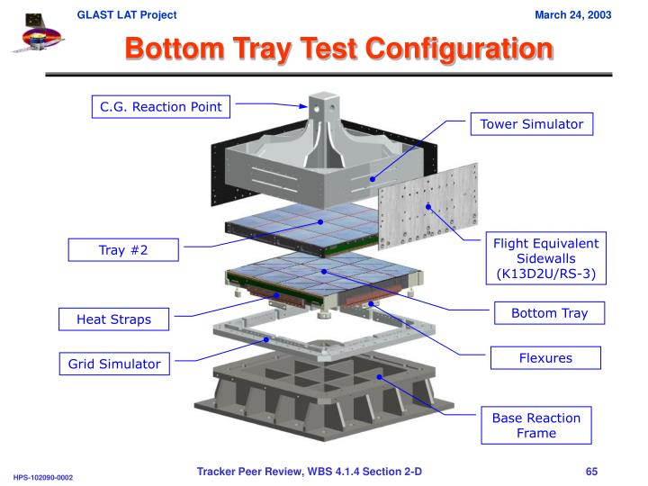 Bottom Tray Test Configuration