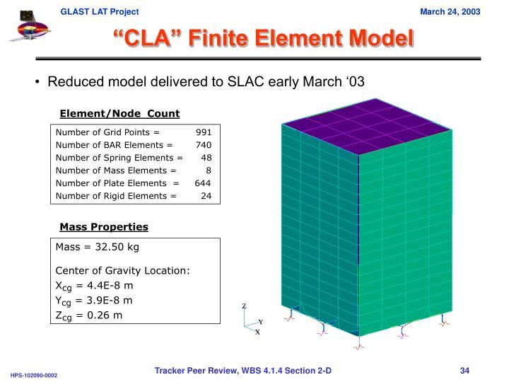 """CLA"" Finite Element Model"
