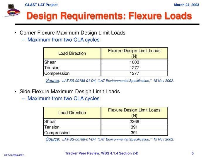 Design Requirements: Flexure Loads