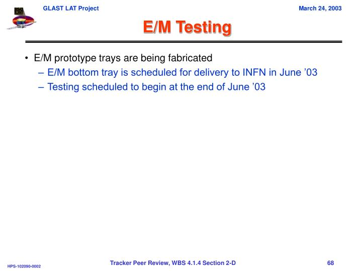E/M Testing