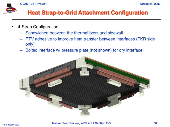 Heat Strap-to-Grid Attachment Configuration