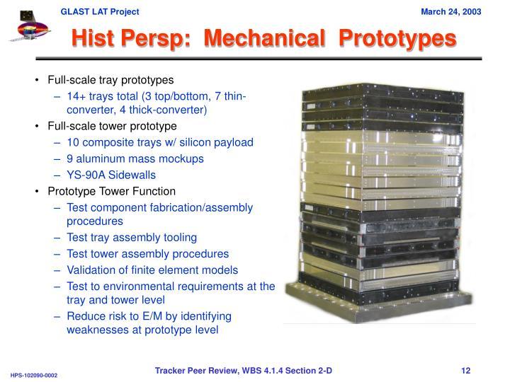 Full-scale tray prototypes