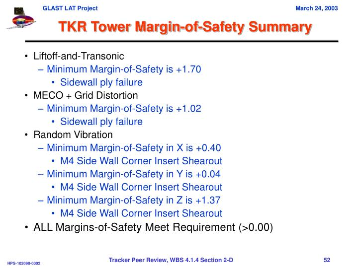 TKR Tower Margin-of-Safety Summary