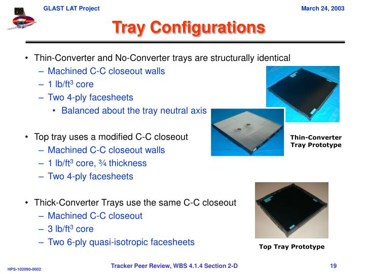 Tray Configurations