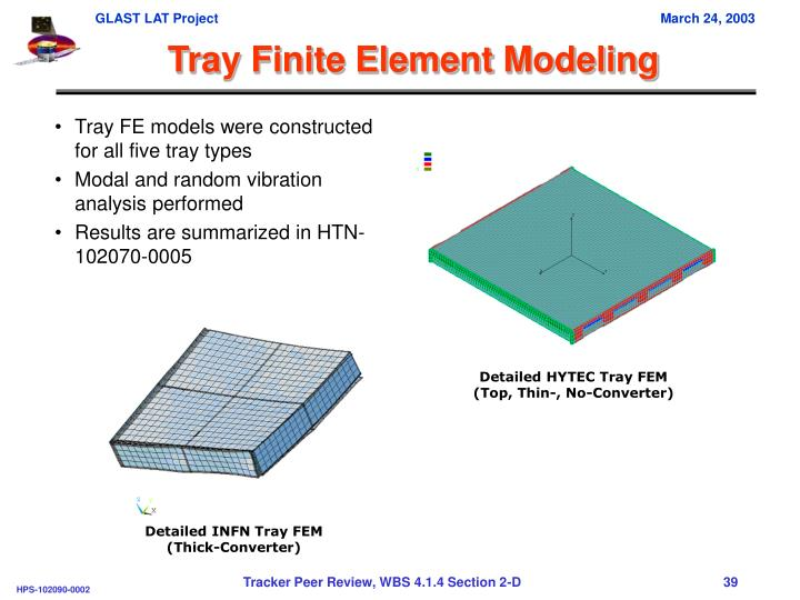 Tray Finite Element Modeling