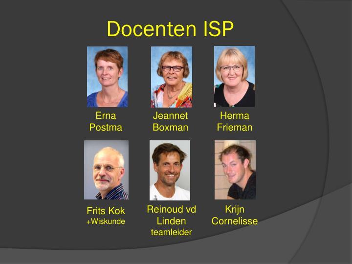 Docenten ISP