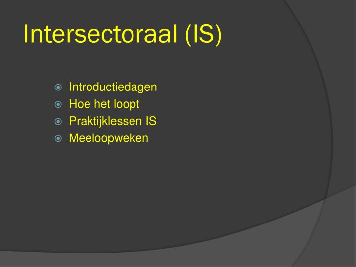 Intersectoraal (IS)