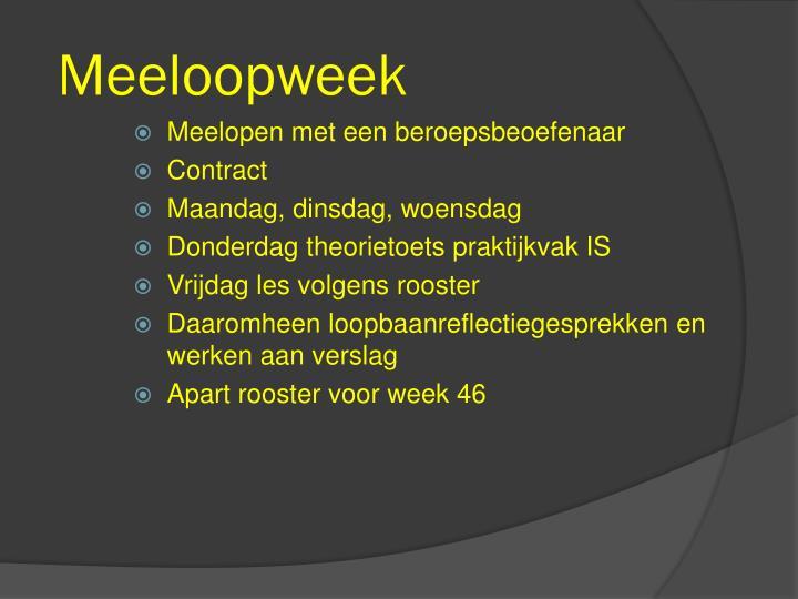 Meeloopweek