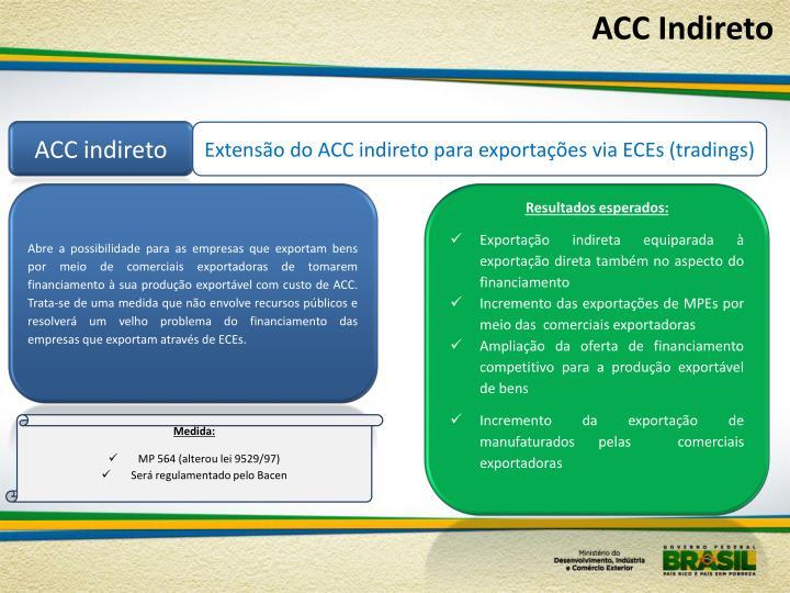 ACC Indireto