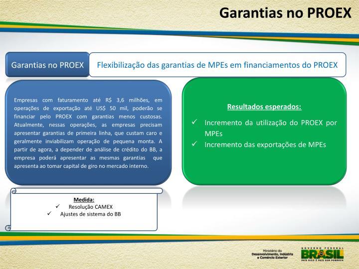 Garantias no PROEX