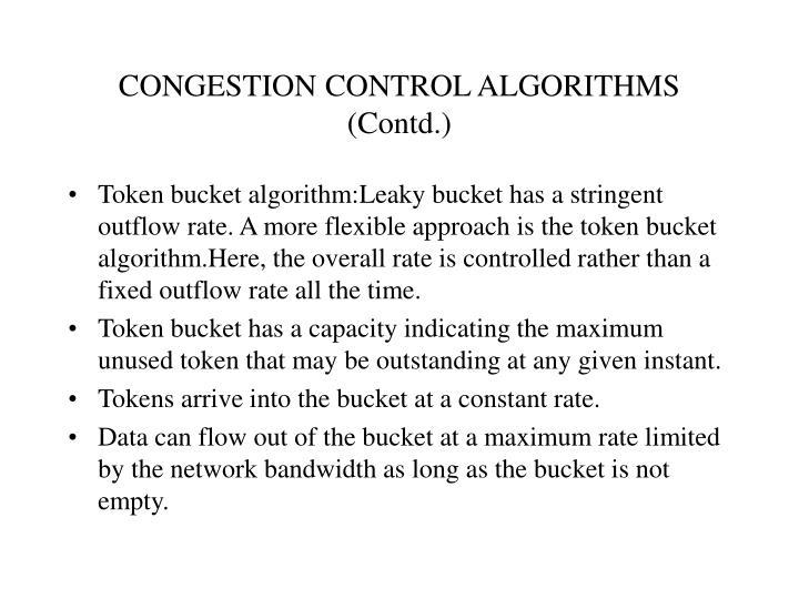 CONGESTION CONTROL ALGORITHMS (Contd.)