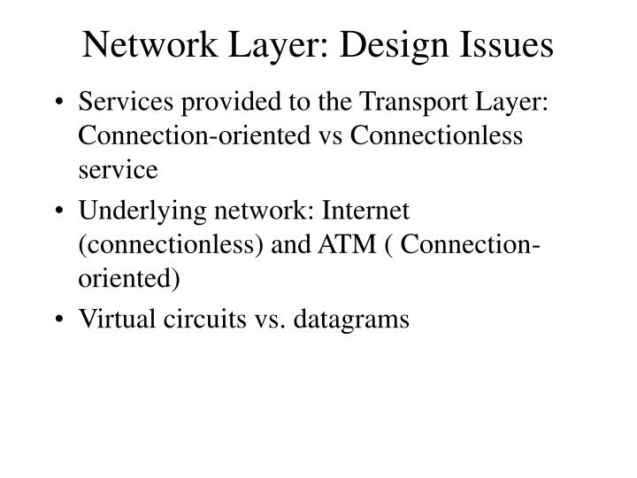 Network Layer: Design Issues