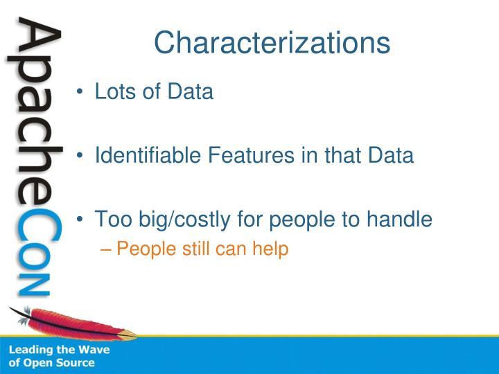Characterizations