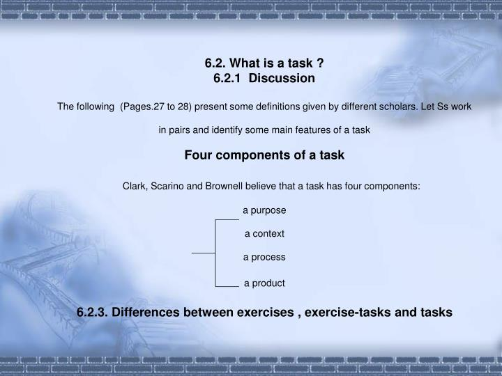 6.2. What is a task ?
