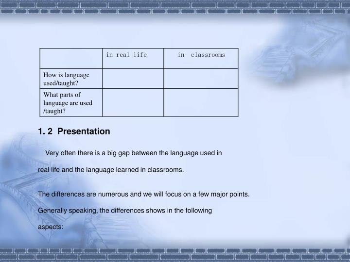 1. 2  Presentation