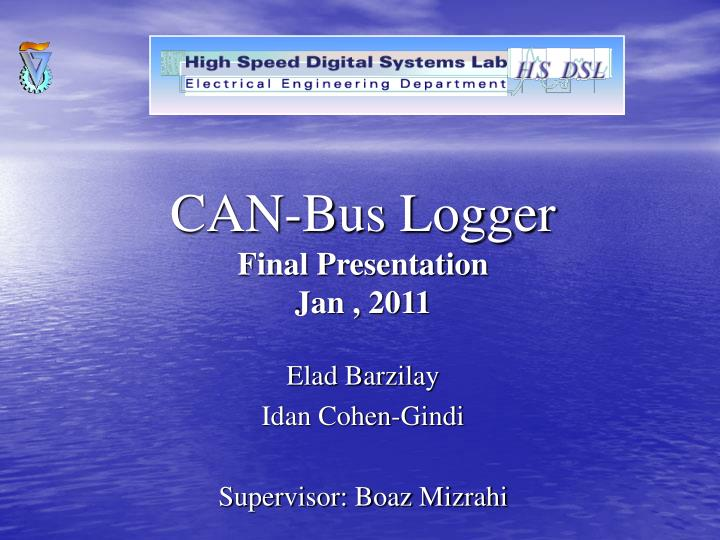 Can bus logger final presentation jan 2011