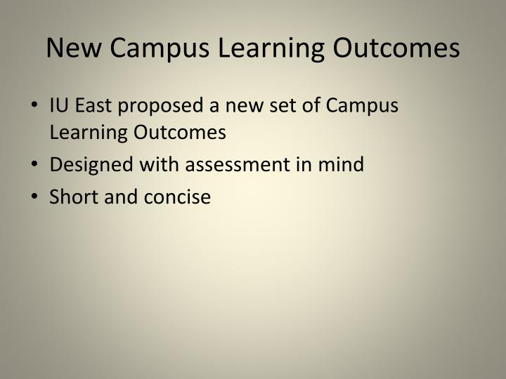 New Campus Learning Outcomes