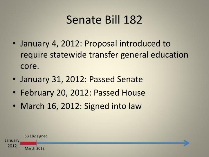 Senate Bill 182