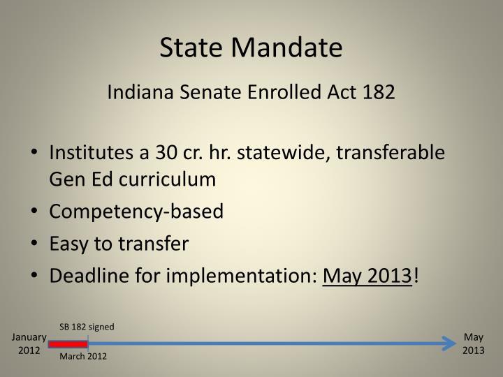 State Mandate