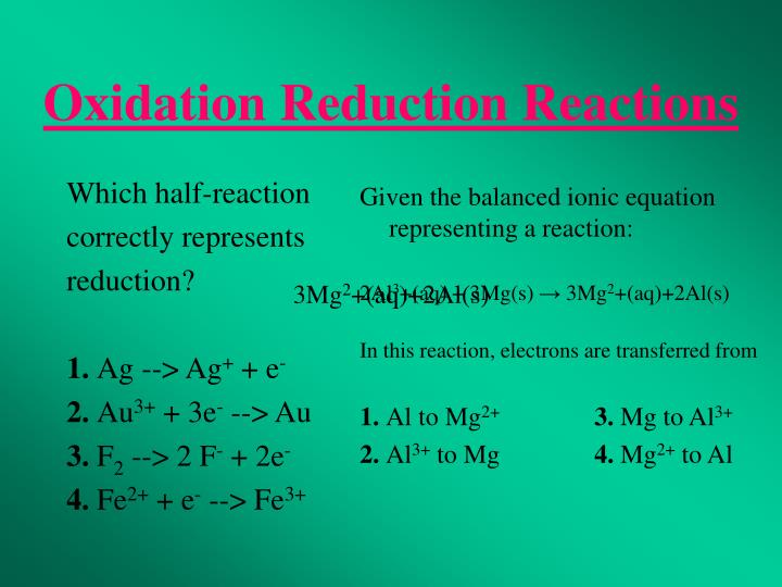 Which half-reaction