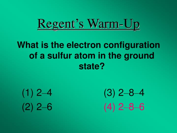 Regent's Warm-Up
