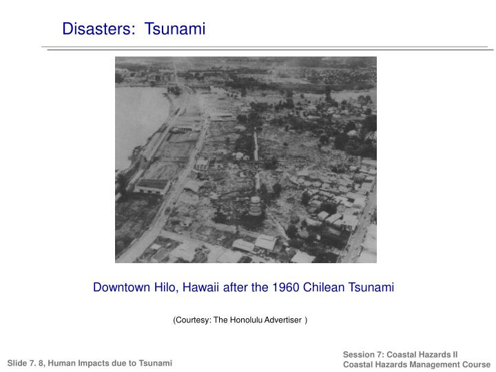 Disasters:  Tsunami