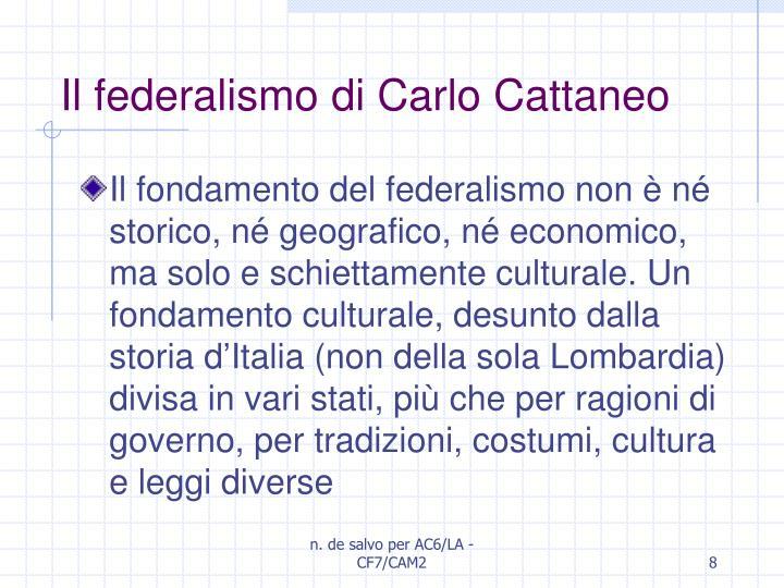 Il federalismo di Carlo Cattaneo