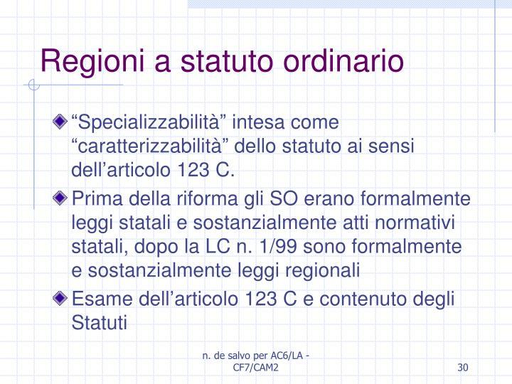 Regioni a statuto ordinario