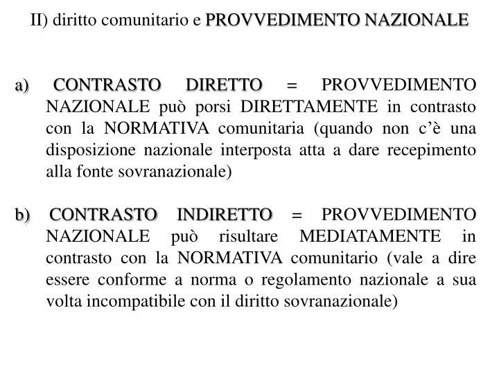 II) diritto comunitario e
