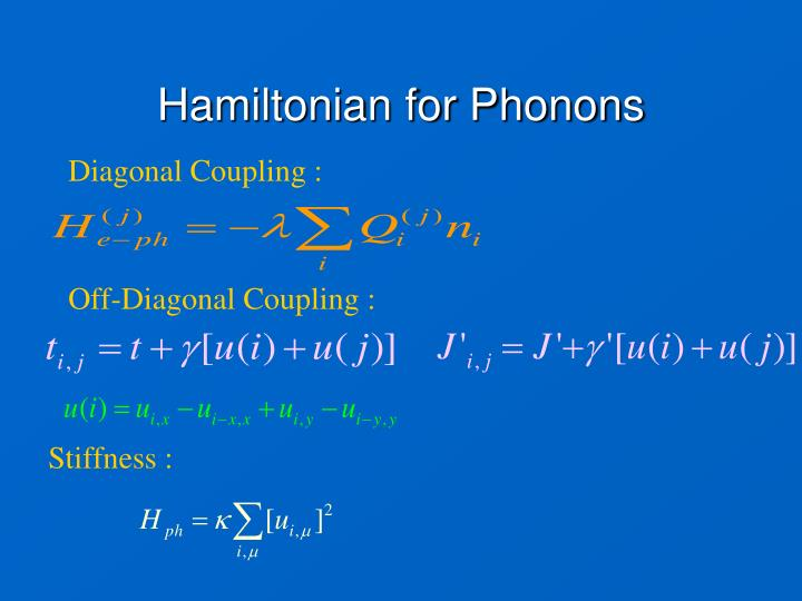 Hamiltonian for Phonons