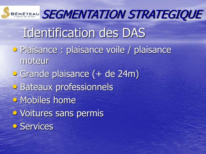 SEGMENTATION STRATEGIQUE