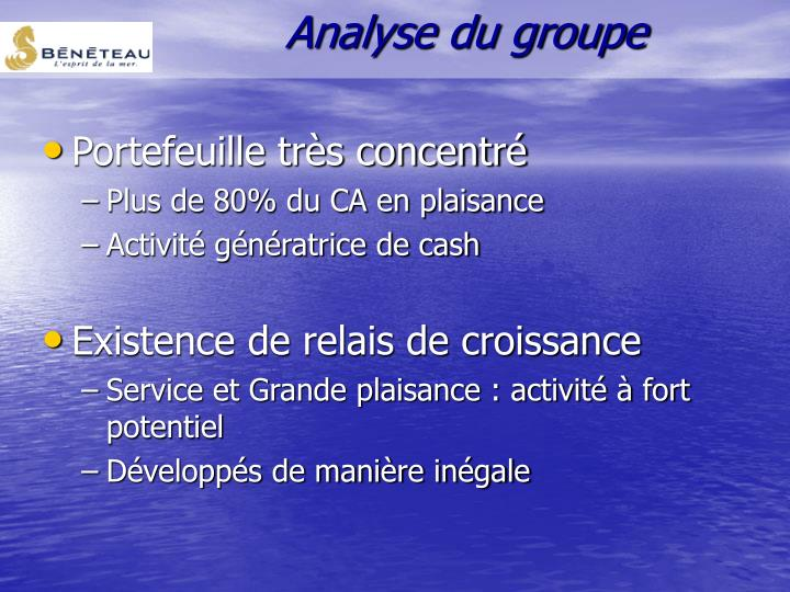 Analyse du groupe