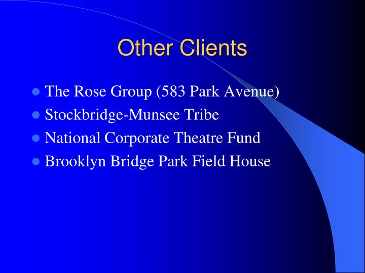 Other Clients