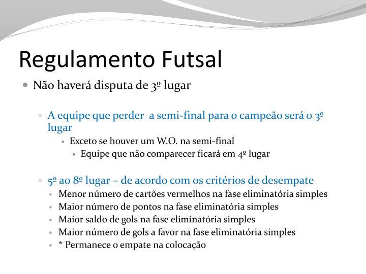 Regulamento Futsal