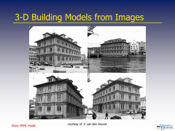 3-D Building Models from Images