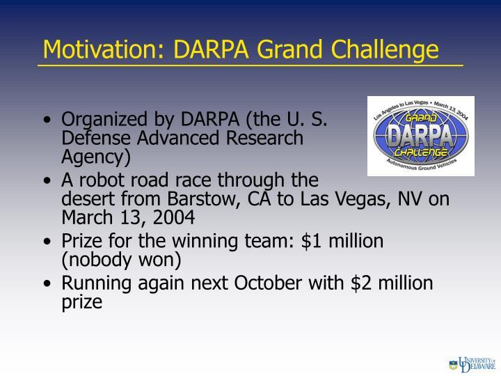 Motivation: DARPA Grand Challenge
