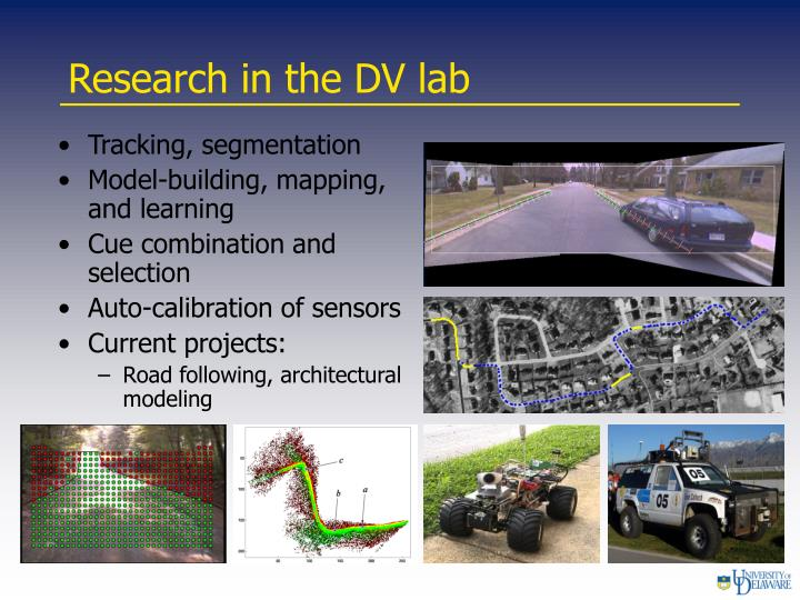 Research in the dv lab